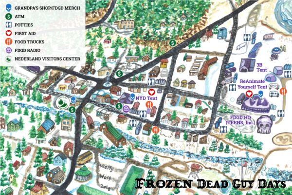 Frozen Dead Guy Days Festival Map